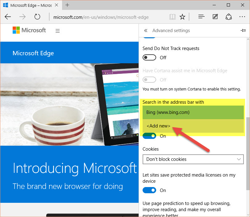 Microsoft-Edge-change-default-search-to-google-41
