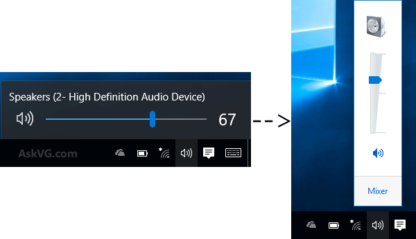 Windows 10 Volume Control Slider Change1