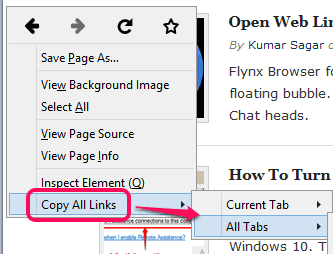context-menu-options-of-Copy-All-Links-add-on1