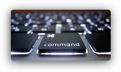 backlit command key