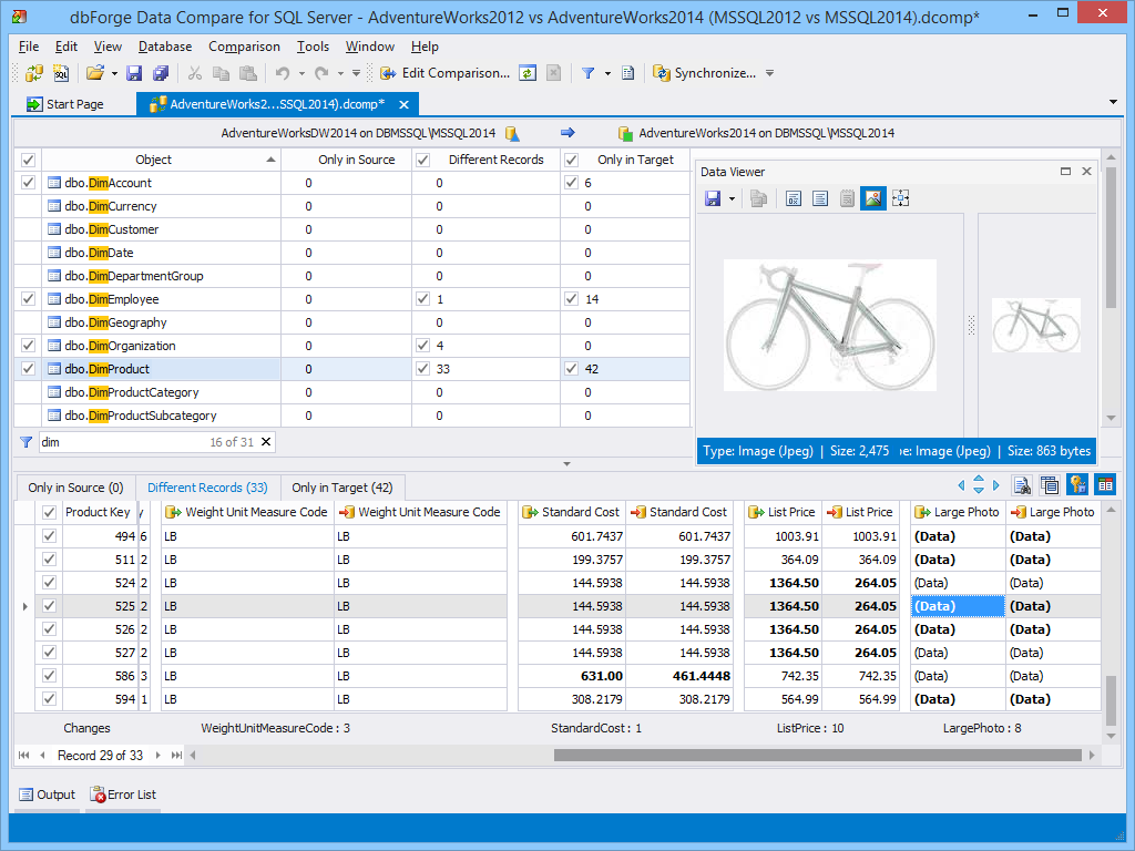 dbforge Data  Compare for SQL Server 3 2
