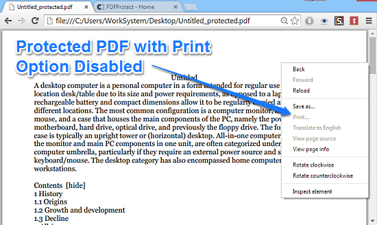 i accidentally protected a pdf